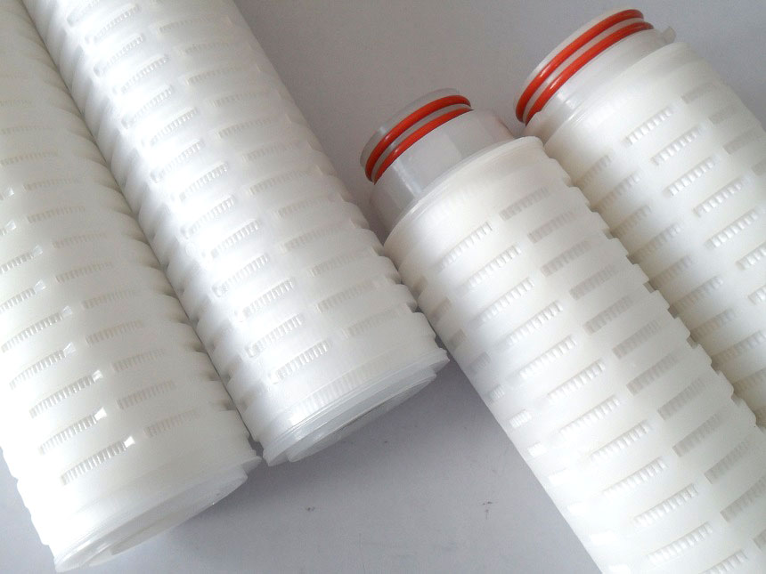 Membrane pleated filter cartrid