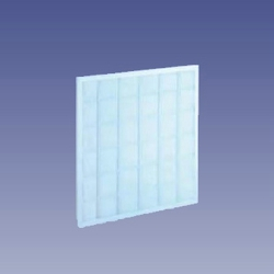 Flat plate primary air filter